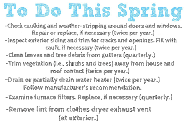 spring to do list